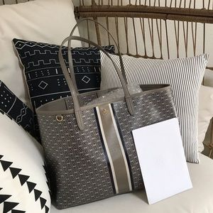 TORY BURCH GEMINI LINK TOTE FRENCH GREY $198